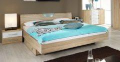 Rauch-PACKs Bett 180 x 200 cm mit Nako-Set Eiche Sonoma/ Abs. alpinweiß RAUCH PACKS Valence Extra