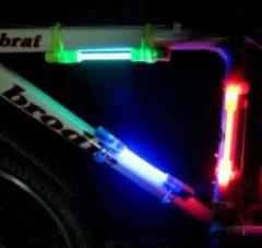 Benson Fietsverlichting - Fietslicht LED - 2 Stuks - Fietsverlichting kinderen - Fietslampjes - Frame verlichting - Rood - Groen - Kleurverlichting - Opvallend in donker