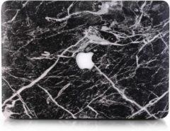Zwarte CasualCases Hardcase hoes marmer zwart/wit voor de MacBook Pro Retina 13 inch (2016-2018)