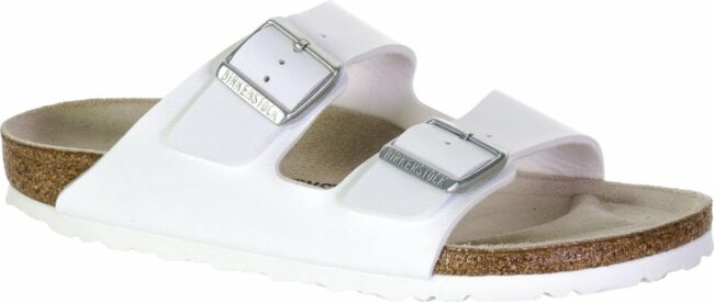 Afbeelding van Witte Birkenstock Women's Arizona Slim Fit Double Strap Sandals - White - EU 36/UK 3.5 - White