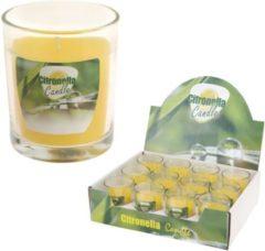 Gele Merkloos / Sans marque Citronellakaars in glazen pot