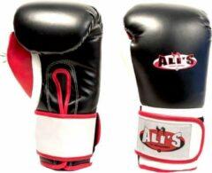 Rode Ali's Fightgear Ali's bg tr zw1 (kick) bokshandschoen 10 Oz