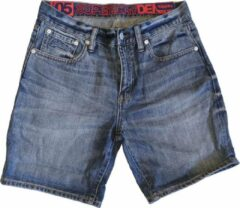 Blauwe Superdry Superdry Conor taper denim Regular fit Short Maat W30