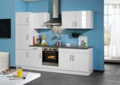 HELD Möbel Küchenzeile Nevada 270 cm Hochglanz weiß - ohne E-Geräte