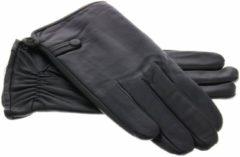 Zwarte IMoshion Echt lederen touchscreen handschoenen egaal - Maat XXL