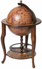 Brulo Wereldbol Globebar Montecorvino Wijnrek - ⌀ 45 cm - Bruin - Hout