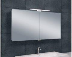 Saqu Essentials Spiegelkast met LED verlichting 120x60x14 cm