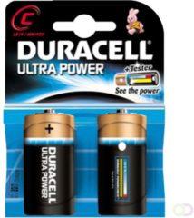 Blauwe Duracell Ultra Power C alkaline batterijen - 2 stuks