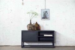 TV Meubel Zwart - 115cm Lang - Metaal - Rechthoekige Vorm - Tv-meubel Urban 115cm Giga Meubel