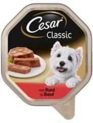 Cesar Classic - Rund pate - Alu Kuipje - Hondenvoer - 14 x 150 gr