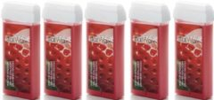 Italwax 5x Harspatroon Strawberry 100 ml