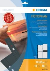 HERMA Fotophan transparent photo pockets 10x15 cm portrait black 10 pcs. (7785)