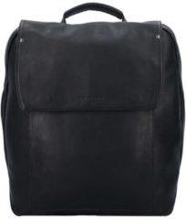 Ivy Rucksack Leder 38 cm Laptopfach Harold's schwarz