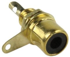 Valueline CC-116 RCA (F) Zwart, Goud kabel-connector