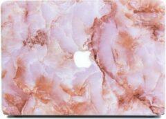 Lunso marmeren hardcase hoes roze voor de MacBook Air 13 inch