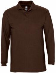 Bruine Polo Shirt Lange Mouw Sols WINTER 2 CASUAL MEN