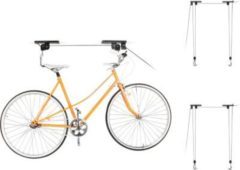 Relaxdays 3er Set Fahrradlift Fahrradaufbewahrung Fahrradhalter Decke Fahrradaufzug Garage