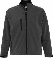 SOLS Heren Relax Soft Shell Jacket (ademend, winddicht en waterbestendig) (Houtskool)