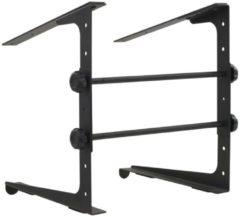 VidaXL Laptopstandaard 30,5x28x(24,5-37,5) cm staal zwart