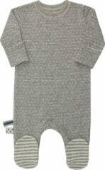 Grijze OrganicEra Organic Baby Footed Sleepsuit Grey Melange 0-3