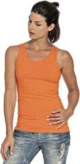 Gildan Oranje tanktop/singlet voor dames - Holland feest kleding - Supporters/fan artikelen - dameskleding hemdje/top L (40)