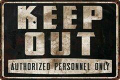 Zwarte Th Commerce® Keep Out-Wegwezen-personeel-Stop-TH Commerce 9086