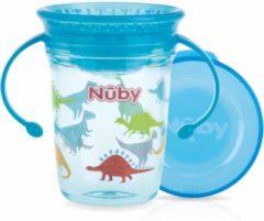 Nûby - Drinkbeker - 360° Wonder cup met handvatten in Tritan™ - Aqua - 240ml - 6m+