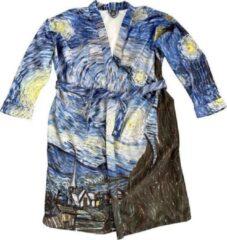 Art badjassen Badjas met Sterrennacht opdruk – Unisex – Bathrobe – Maat M