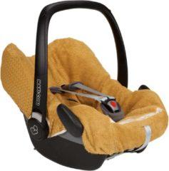 Gele Koeka - Autostoelhoezen - Baby Autostoelhoes 3-Punts Wafel Antwerp - One Size - Ochre
