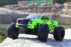 "Groene Absima - Afstandsbestuurbare Auto RTR ""Ready To Run"" inclusief zender - 1:10 EP Monster Truck ""AMT3.4"" 4WD - 12224"