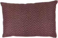 Fairtrade Katoenen Kussen Zigzag Paars XL (Rechthoekig – met Vulling)