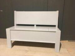 Witte Oud is Nieuw Klepbank Eetbank Visby 180 cm