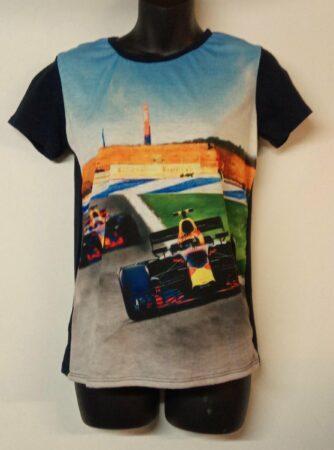 Afbeelding van Blauwe Merkloos / Sans marque Uniek Formule 1 shirt 170/176