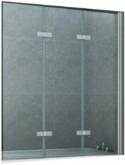 Badwand Boss & Wessing Lusso 130x140 cm Helder Glas Aluminium Chroom Profiel