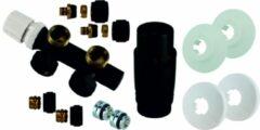 Wiesbaden compleet thermostatisch onderblok mat zwart haaks links