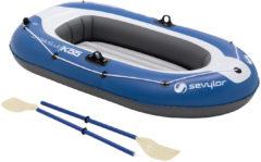Blauwe Sevylor Europe Sevylor Kk65 Caravelle Kit Opblaasboot - 2-Persoons - Inclusief Peddels