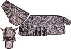 QHP Vliegendeken Zebra met hals en masker - Zebra - 165
