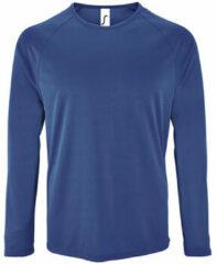Blauwe T-Shirt Lange Mouw Sols SPORT LSL MEN