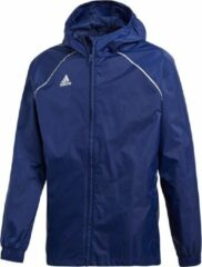 Marineblauwe Adidas Performance Trainingsjack Core 18 CV3743