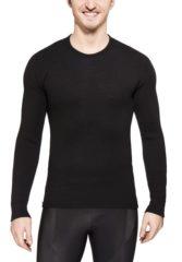 Zwarte Woolpower Crewneck 200 merino ondergoed zwart Maat L