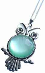 Turquoise 2 Love it Uil M - Ketting - Lengte 46 cm