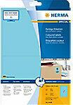 Gekleurde etiketten Herma 4498 A4 199,6x143,5 mm blauw verwijderbaar papier mat 40 st.
