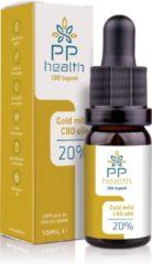 PP Health - CBD Olie Gold Plus 20% - 100% Biologisch - 2000mg - Nu tijdelijk CBD Boost 5% (5ml) gratis t.w.v. € 19,95 - Full Spectrum van Hennep plant - 10 ml - Mild van smaak door aanmaak met biologische olijfolie