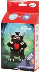 Zwarte Creotime Silk Clay Knutselset Ugly Monsters Zwart 6-delig