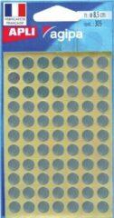 Witte Agipa Ronde Etiketten In Etui Diameter 8 Mm, Zilver, 308 Stuks, 77 Per Blad