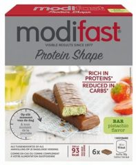 Modifast ProtiPlus reep melkchocolade pistache (1 Pak van 162 gr)