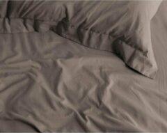Katoensatijn Zijdezachte Katoen/Satijn Extra Lang Hoeslaken Taupe | 180x220 | Glazend En Luxe | Ademend En Duuzaam