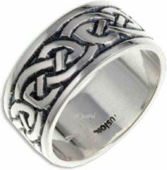 St Justin Ltd Endless Knot (Broad) Zilveren Ring, keltische ring Maat 63