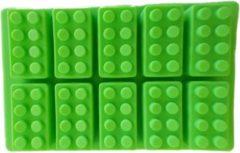 Groene Merkloos CE Bouwstenen vorm - Chocolade - Cake - Fondant