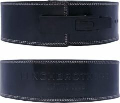 Benchbrothers Powerlifting riem leer - lever belt - powerlifting belt - halter riem - Zwart - S